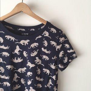 J. CREW leopard cat print T-shirt!